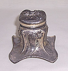 Silver Plated Art Nouveau Inkwell, Jennings Brothers (Image1)