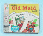 Click to view larger image of Jumbo Old Maid Game, Milton Bradley, 1968 (Image2)
