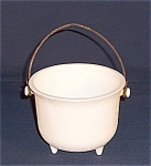 Click here to enlarge image and see more about item TE-GC104: Milk Glass Kettle � Found in Dig