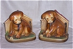 Click here to enlarge image and see more about item TE0012: Chalk Dog Bookends