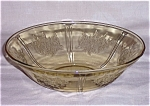 Amber Sharon/ Cabbage Rose- Large Berry Bowl, Federal Glass Co.