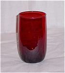 Click here to enlarge image and see more about item TE002: Royal Ruby Water Tumbler – Anchor Hocking