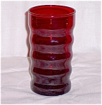 Click here to enlarge image and see more about item TE003: Royal Ruby Tumbler, Rings � Anchor Hocking