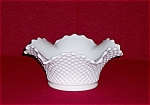 Click here to enlarge image and see more about item TE0042: Westmoreland English Hobnail Crimped Bowl