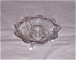 Click here to enlarge image and see more about item TE0048: Fenton 9 Petal, Footed Candle
