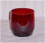 Click here to enlarge image and see more about item TE007a-e: Royal Ruby Low Tumbler � Anchor Hocking