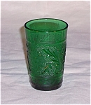 Click here to enlarge image and see more about item TE0108: Forest Green Sandwich Juice Tumbler – Hocking Glass Co.