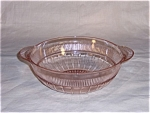 Click here to enlarge image and see more about item TE0116: Pink Coronation Master  Berry Bowl – Saxon – Banded Fine Rib