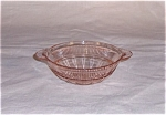 Click here to enlarge image and see more about item TE0117: Pink Coronation -  Berry Bowl – Saxon – Banded Fine Rib