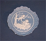 Click here to enlarge image and see more about item TE0181: Jasperware Angel Plaque - Miniature Plate/ Pin Tray