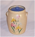Click here to enlarge image and see more about item TE0197: Ransburg Type Cookie Jar / Crock
