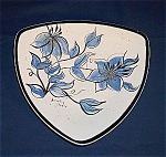 Click here to enlarge image and see more about item TE0221: Signed Pottery Tray � Dorothy Steele
