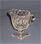 Click here to enlarge image and see more about item TE0231: Depression Glass - Pretzel Creamer- No. 622 Indiana Glass Co.