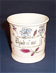 Click here to enlarge image and see more about item TE0354: German  �Think of Me�  Ornate Cup/Mug