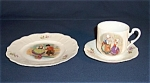 Click here to enlarge image and see more about item TE0357: Porcelain Children�s Dishes � Place Setting � Dutch Theme