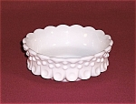 Click here to enlarge image and see more about item TE0365: Fenton  Milk Glass Hobnail Bonbon