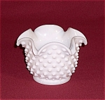 Click here to enlarge image and see more about item TE0367a-b: Fenton  Milk Glass Hobnail Bonbon � Star