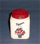 Click to view larger image of Shaker – Red Blossom, Black Basket – Tipp (Image1)