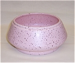 Click here to enlarge image and see more about item TE0433: California Pottery – Pink Speckled Bowl - 1956