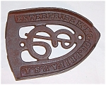Click here to enlarge image and see more about item TE0509: Cast Iron - Enterprise Mfg. Philadelphia U.S.A. -  Iron Stand / Trivet