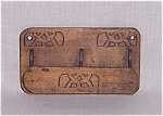 Click here to enlarge image and see more about item TE0549: Tramp Art Type Wood Double Hanging/ Match Holder