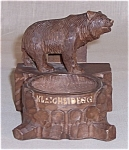 Click here to enlarge image and see more about item TE0572: Black Forest Bear – Ash Tray/ Match Holder