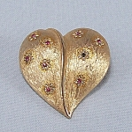 Click here to enlarge image and see more about item TE0598: B.S.K. � Heart Pin