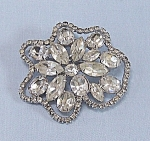 Click here to enlarge image and see more about item TE0601: Rhinestone Brooch