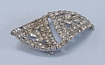 Click here to enlarge image and see more about item TE0602: Rhinestone Brooch - Unusual Shape