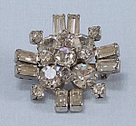 Click to view larger image of Rhinestone & Baguettes Pin (Image1)