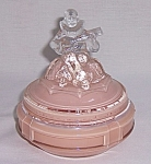 Click here to enlarge image and see more about item TE0745: Art Deco Powder Jar �  Minstrel