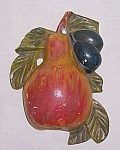 Click to view larger image of Vintage Pear with Plums String Holder (Image1)