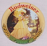 Click to view larger image of Budweiser Coaster – Tin Litho (Image1)