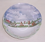 Click here to enlarge image and see more about item TE0799: Vintage German Lusterware Bowl � Playing Children