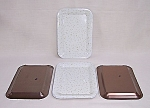 Click here to enlarge image and see more about item TE0843: New Old Stock � Tip Trays � White & Gold