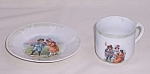 Click here to enlarge image and see more about item TE0866: Children't Dishes – Cup and Plate – German