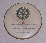 Click here to enlarge image and see more about item TE0882: Rotary Club – Dayton Ohio – Vintage Mirror