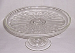 Click here to enlarge image and see more about item TE0885: Depression Glass � Cake Stand