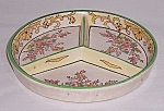 Click here to enlarge image and see more about item TE1022: Hand Painted Sectioned Dish � Japan