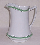 """Click here to enlarge image and see more about item TE1029: W.H. Grindley & Co. – Vintage Milk Pitcher – """"The Olympic"""" – Troy"""