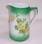 Click here to enlarge image and see more about item TE1030: Transfer Pitcher – Floral, Yellow Roses