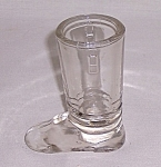 Figural Glass Candy Container � Clear Boot	 # 1