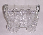 Figural Glass Candy Container � Prairie Schooner Wagon