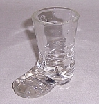 Click here to enlarge image and see more about item TE1091: Figural  Glass Candy Container � Clear Boot  # 2