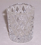 Click to view larger image of Diamond Pattern –  Glass Toothpick  Holder (Image1)