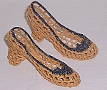 Click to view larger image of Vintage Knit Shoes � Novelty / Whimsy (Image1)