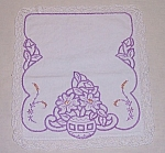 Click here to enlarge image and see more about item TE1114: Embroidery on Linen – Small
