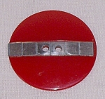 Large Red Bakelite Button