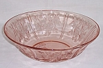 Click to view larger image of Federal Glass Co. - Sharon – Cabbage Rose – Pink  Fruit Bowl (Image1)