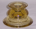 Federal Glass Co. � Madrid  Candleholder � Golden Glow